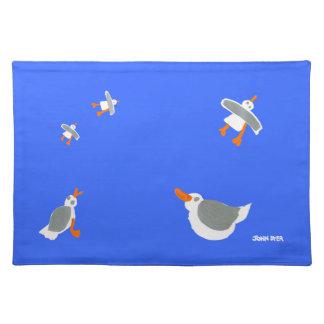 Art PlaceMat: John Dyer Seagulls, Blue Placemats