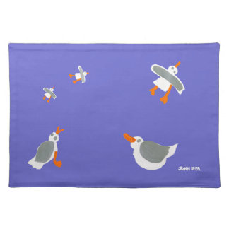 Art PlaceMat: John Dyer Seagulls, Purple Placemat