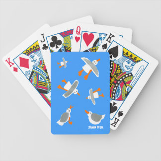 Art Playing Cards: John Dyer Seagulls Blue Bicycle Playing Cards