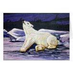 Art Polar Bear Greeting Cards