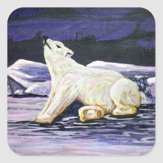 Art Polar Bear Stickers