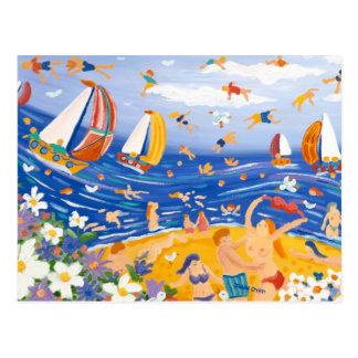 Art Postcard: Beachy Treats, Saucy Seaside. Postcard