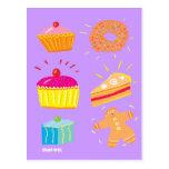 Art Postcard: Cakes, Fancies and Gingerbread Man