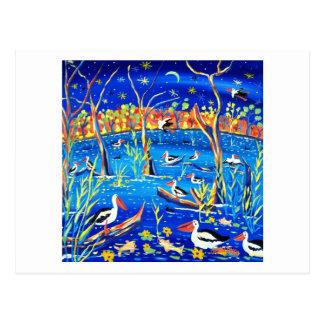 Art Postcard: Pelican Roost, Banrock Station Postcard