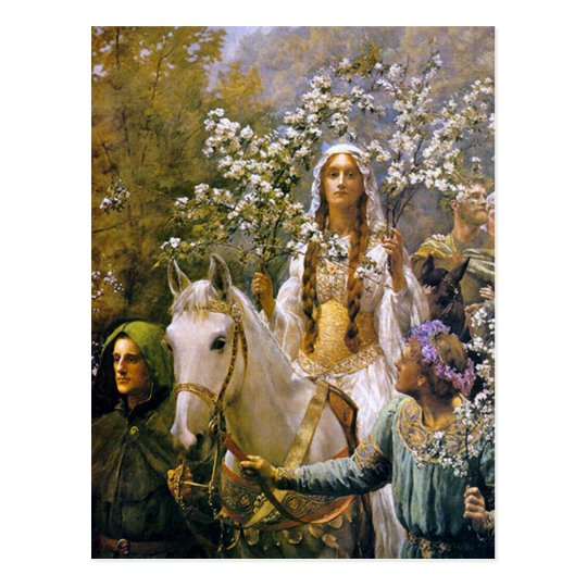 Art Postcard: Queen Guinevere Postcard