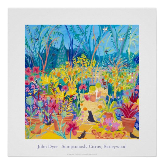 Art Poster: Alan Titchmarsh Barleywood Garden. Poster