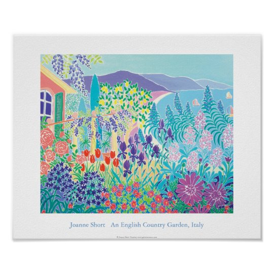 Art Poster: An English Country Garden, Italy Poster