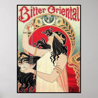 Art Poster: Art Nouveau - Bitter Oriental Poster