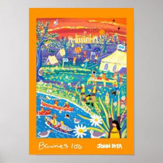 Art Poster Brownies 100 Years of Fun