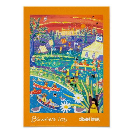 Art Poster: Brownies 100 Years of Fun !