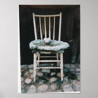 Art Poster / Farm Chair & Heart Rock / SC Jacobson