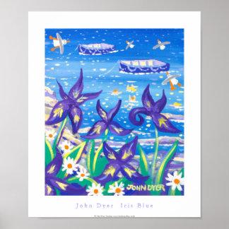 Art Poster: Iris Blue