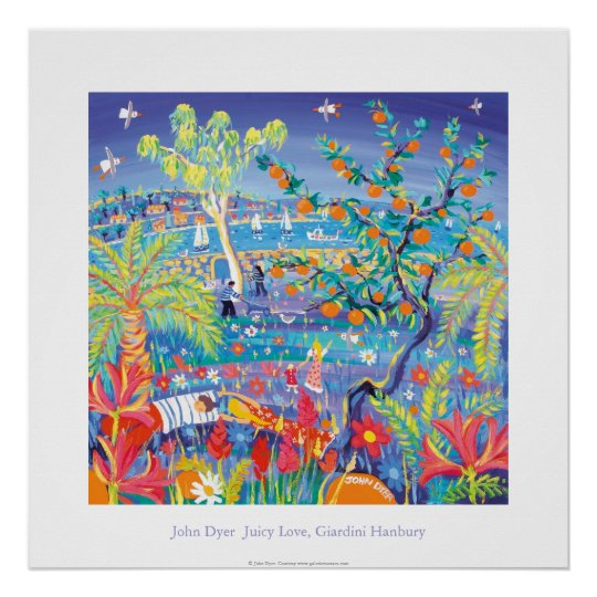 Art Poster: Juicy Love, Giardini Hanbury Italy Poster