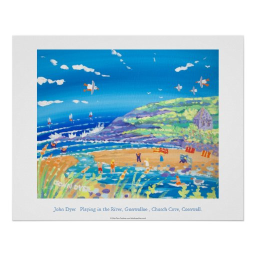 Art Poster: Playing in the River, Church Cove Poster