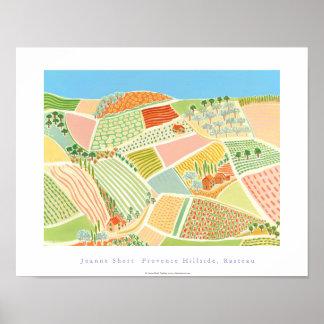 Art Poster: Provence Hillside, Rasteau, France