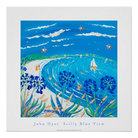 Art Poster: Scilly Blue View, Tresco Poster