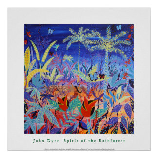 Art Poster: Spirit of the Amazon Rainforest Poster