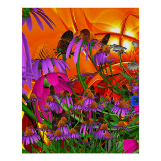 Art Poster Sunshine Flowers