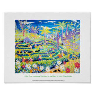 Art Poster: The Maze at Glendurgan by John Dyer Poster