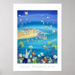 Art Poster: Waving Daisies, St Ives, Cornwall
