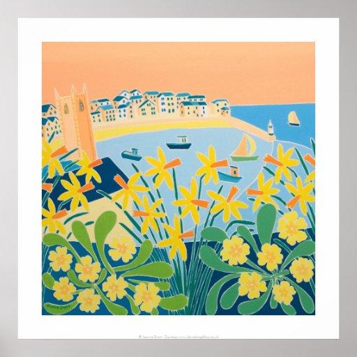 Art Print: A Burst of Daffodils, St Ives