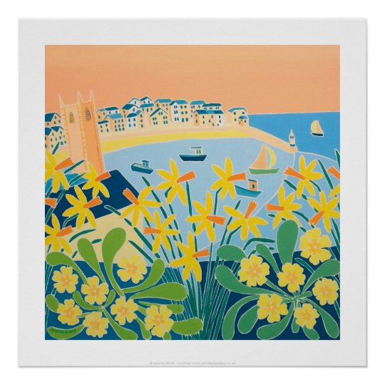 Art Print: A Burst of Daffodils, St Ives