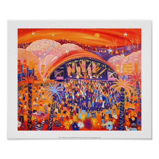 Art Print: Africa Calling Live 8 The Eden project
