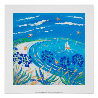 Art Print: Agapanthus, Pentle bay Beach, Tresco Poster