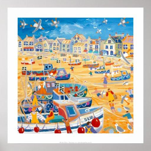 Art Print: Boats and Ropes, St Ives, Cornwall