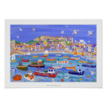 Art Print: Boats in the Harbour, St Ives,Cornwall