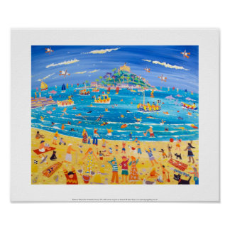 Art Print: Eskimo Kids at St Michael's Mount Poster