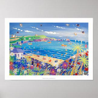 Art Print Family Fun Mother Ivey s Bay Cornwall