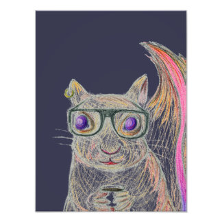 Art Print [Hipster not Hamster 2] Photographic Print