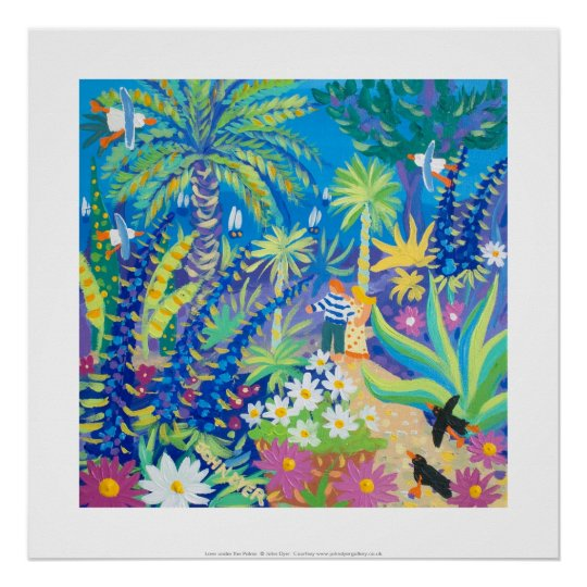 Art Print: Love under the Palms Abbey Garden