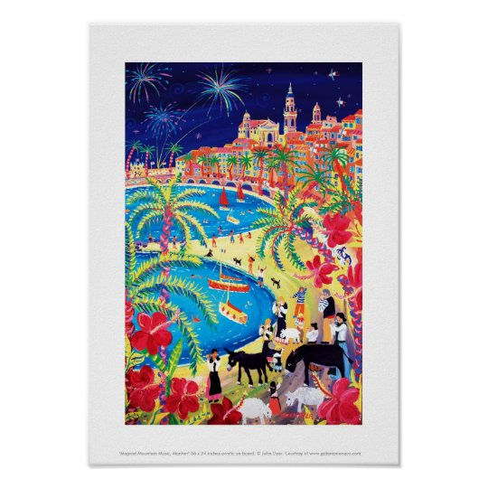 Art Print: Magical Mountain Music, Menton Poster