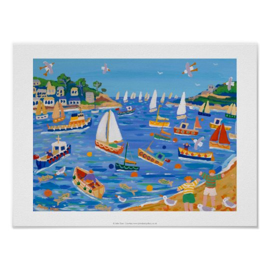 Art Print: Sunday Sailing, Fowey, Cornwall Poster