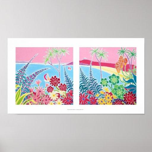 Art Print: Tresco, Isles of Scilly, Cornwall. Poster