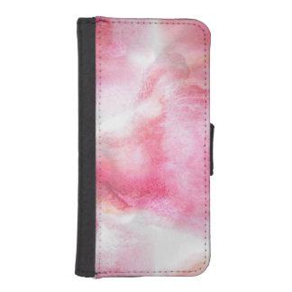 art red avant-garde background hand paint 2 iPhone SE/5/5s wallet case