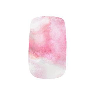 art red avant-garde background hand paint 2 minx nail art