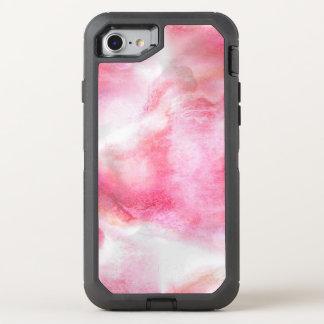 art red avant-garde background hand paint 2 OtterBox defender iPhone 8/7 case