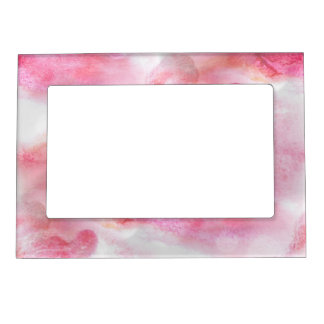 art red avant-garde background hand paint picture frame magnets
