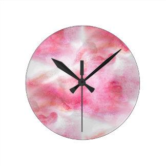 art red avant-garde background hand paint round clock