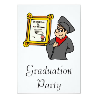 Art School Grad 13 Cm X 18 Cm Invitation Card