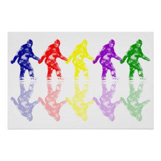 ART SCHOOL SQUATCH - Colorful Bigfoot Logo Poster