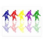ART SCHOOL SQUATCH - Colourful Bigfoot Logo Postcard