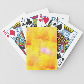 art seamless color yellow background watercolor bicycle playing cards