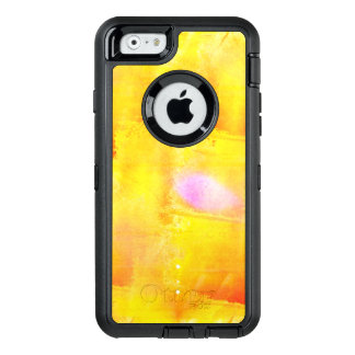 art seamless color yellow background watercolor OtterBox defender iPhone case