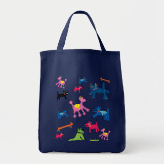 Art Shopper Bag Crazy Cornish Dogs
