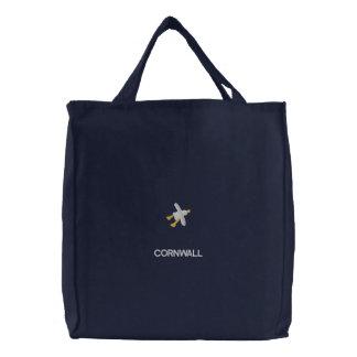 Art Shopper Bag: Embroidered John Dyer Seagull Embroidered Bag