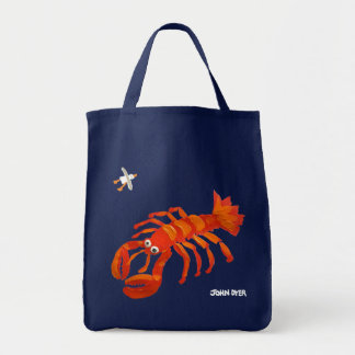 Art Shopper Beach Bag: John Dyer Seagull & Lobster Tote Bag